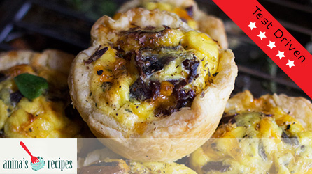 Biltong & Cheese Quiche Puffs