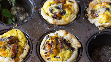 Biltong and Cheese Quiche Puffs