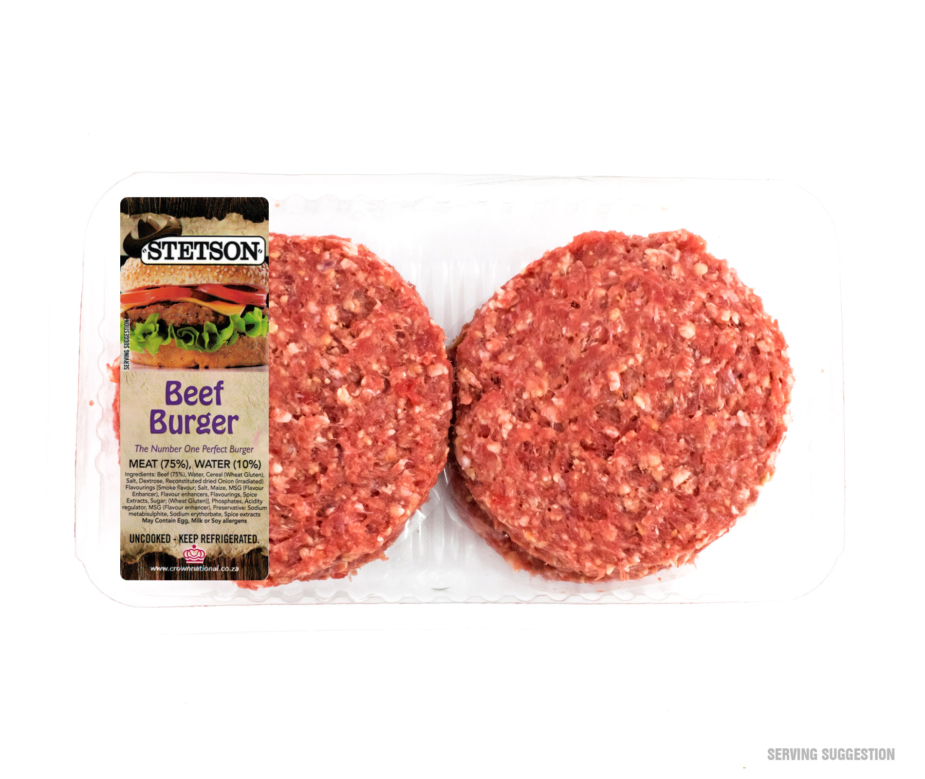 Stetson Beef Burger Patties 6 Pack Available At Biltong Co Za