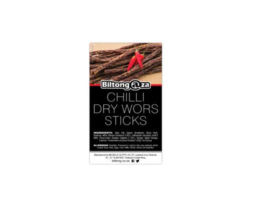 Chilli Dry Wors Sticks 30g